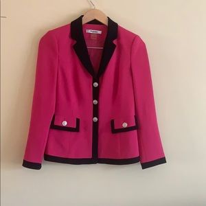 Pink and black blazer with silver buttons